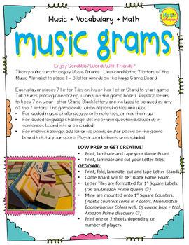Music Grams - Word Board Game