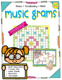 Music Grams - Word Board Game