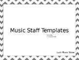 Music - Grand Staff Paper