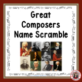 Music Composers: Great Music Composers Name Scramble