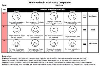 Music Group Performance Rubric