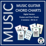 Music Guitar Chord Charts - Digital product - 6 versions- RH and LH