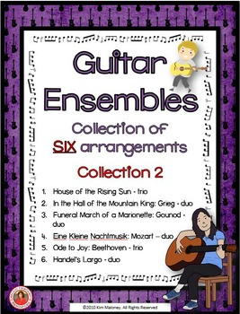 Guitar Ensembles - Collection of SIX arrangement: Collection 2