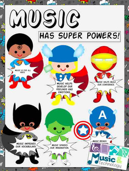 Music Has Super Powers! Bulletin Board
