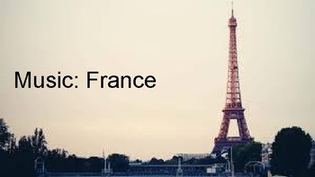 Music History: France