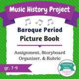 Music History Project - Picture Book - Baroque Period Composers
