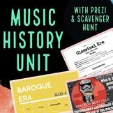 Music History Unit with Prezis & Scavenger Hunt for Genera