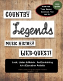 Country Music Legends Webquest (updated for 2020)