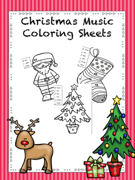 Music Holiday Coloring Pages