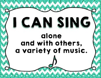 "Music ""I CAN"" Statements - Glitter & Chevrons"