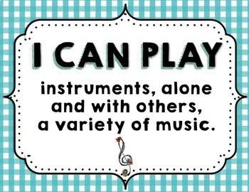 """Music """"I CAN"""" Statements - Teal & Blooms"""