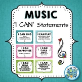 "Music ""I CAN"" Statements - Teal & Blooms"
