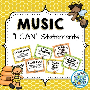 """Music """"I CAN"""" Statements - Busy Bee Kids"""