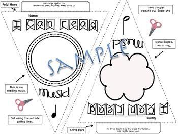 Music: I Can Pennants, Bulletin Boards, Classroom Decor, Open House, Art