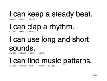 """Music """"I Can"""" Statement Poster Strips (K-5)"""