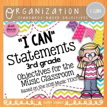 Music I Can Statements: 3rd Grade {Objectives}
