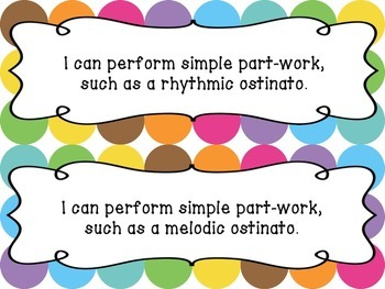 Music I Can Statements: 4th Grade {Objectives}