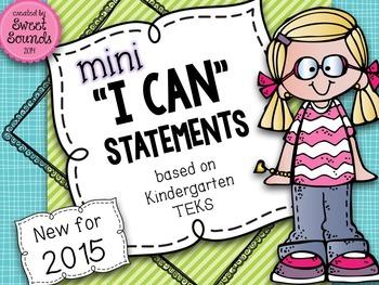 Music I Can Statements: Kindergarten {Mini}