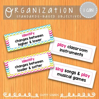 Music I Can Statements: Kindergarten {Objectives}