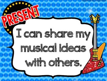 Music I Can Statements - Rock Star Theme
