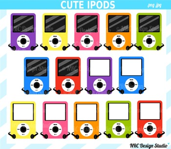 Music players clipart commercial use