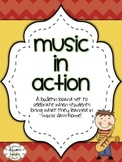 Music In Action Bulletin Board Set