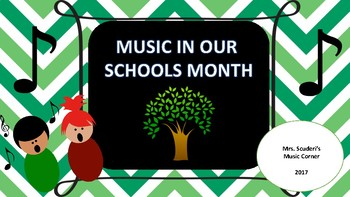 Music In Our Schools Month Activities For March