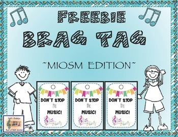 Music In Our Schools Month - Brag Tag Freebie