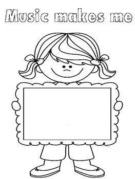 Music In Our Schools Month Coloring, Writing & Advocacy Papers - FREEBIE