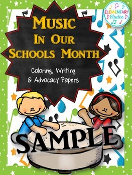 Music In Our Schools Month Coloring, Writing & Advocacy Pa