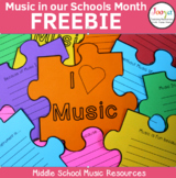 Music In Our Schools Month FREEBIE