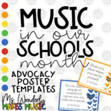 Music In Our Schools Month (MIOSM) Advocacy Poster Templates