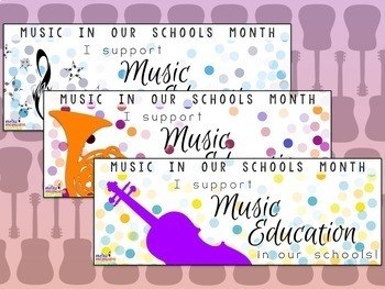 Facebook Timeline Banners for Music In Our Schools Month (MIOSM) Music Advocacy