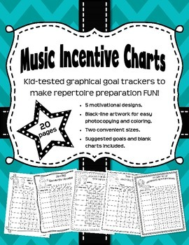 Music Incentive Charts - Graphical Trackers for BIG goals.