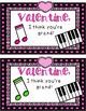 Music Inspired Valentine Cards