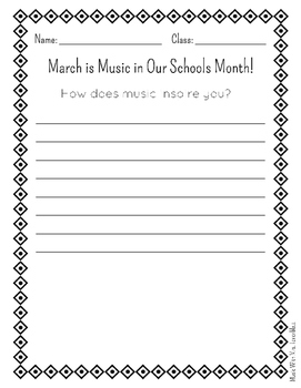 Music Inspires Me... Advocacy Writing Prompts