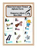 Music Instrument Alphabet Posters