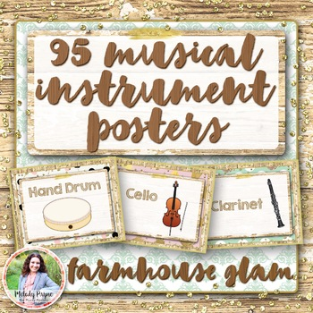 Musical Instrument Posters {95 Rustic Glam 8.5x11 Posters}