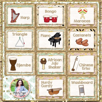 Musical Instrument Posters {95 Rustic Farmhouse Glam 8.5x11 Posters}