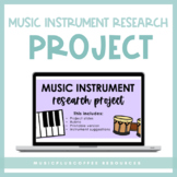 Music Instrument Research Project for Google Slides™ | Dis