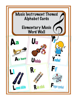 Music Instrument Themed Alphabet Cards