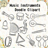 Music Instruments Doodle Clipart