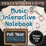 Music Interactive Notebook - Full Year Primary Bundle (Grades 1-3)