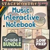 Music Interactive Notebook - Grade 1 Music Full Year Bundl