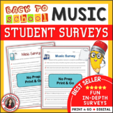 JANUARY MUSIC ACTIVITIES: Back to School Music Interest Surveys