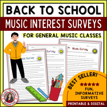Music Activities: Back to School Music Interest Surveys - General Music Classes