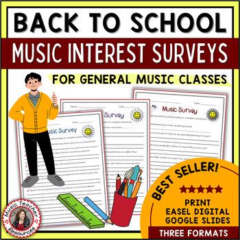 Back to School Music Interest Surveys - General Music Classes