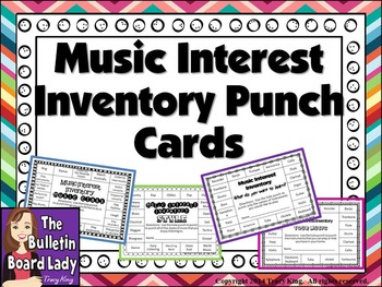 Music Interests Inventory Punch Cards
