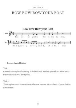 Music Investigation: Row Row Row your Boat (Round)
