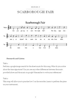 Music Investigation: Scarborough Fair